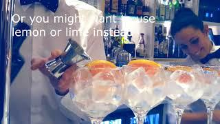 Gin and tonic, how to make it in Spain