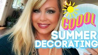 SUMMER DECORATING ON THE WINE???? REFRIGERATORS! NEW BARN LIGHT AND SUMMER PILLOWS! ???? ???? ????