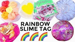RAINBOW SLIME TAG | Satisfying Rainbow Slime Recipes