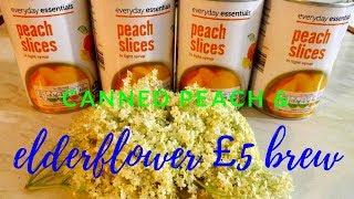 canned peach and elderflower champagne