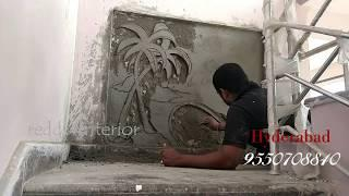 use cement wall painting design exterior wall mural designs