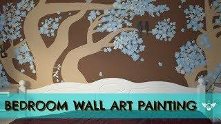 DIY Wall painting idea and tutorial to the bedroom