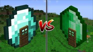 Minecraft EMERALD HOUSE VS DIAMOND HOUSE / BUILD YOUR OWN HOUSE IN MINECRAFT !! Minecraft Mods
