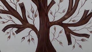 Asian paint tree design Wall painting ideas 2019