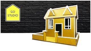 How To Make a Beautiful Cardboard House, Easy and beautiful | Cardboarrd House - Go Studio