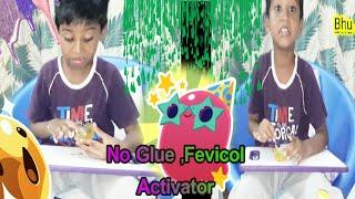 Indian child making slime,no glue, no fevicol , borax, no activator,nail polish slime