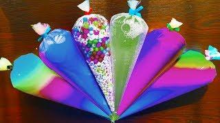 Mixing Rainbow Slime with Piping Bags | 3 Hour Slime Video Compilation #StudySlime
