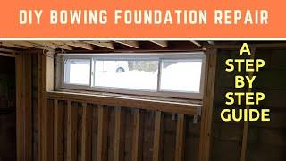 How to fix a bowing foundation wall - DIY repair that saved me $10,000