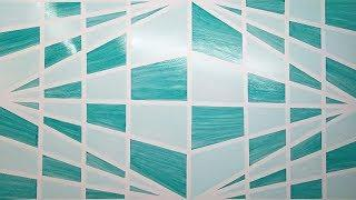 3D Diy geometric wall painting|Asian paints wall design