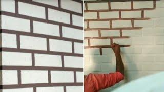 StoCreativ Brick Wall KoolFrm Alsecco Tiles Asian paints texture Creative painting 9AN Stencil