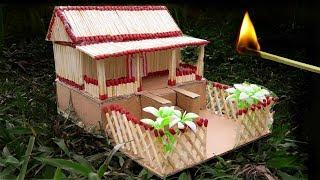 How to Make a Match House Fire at home || Match Stick House not fire
