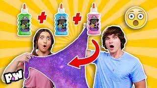 3 Colors of Glue Slime Challenge!! (GIANT SLIME)