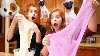 OUR DOGS PICK OUR SLIME INGREDIENTS!!