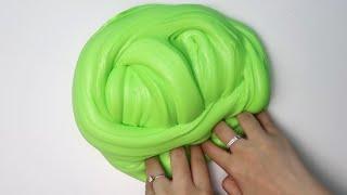 How To Make Giant Soft Fluffy Slime ♡ DIY Jumbo Stretchy Lemon Lime Slime! ASMR Slime!