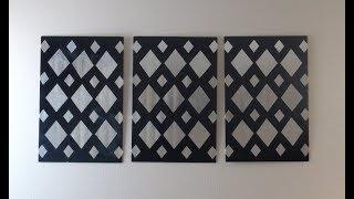 DIY: Aluminium Foil Diamonds Canvas Wall Art Decor