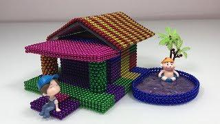 Most Satisfying Video - How To Make Build Beautiful House with Magnetic Balls