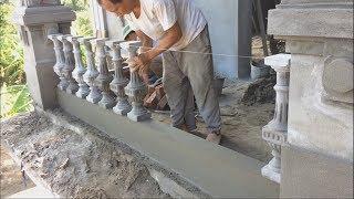 Installing a precast balustrade - How To Make a Concrete Railing For House