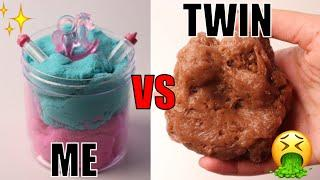 TWIN VS TWIN SLIME CHALLENGE!! Who will make a better slime?