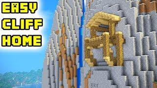 Minecraft: How to Build: Easy Cool Cliff/Mountain House (Tutorial)