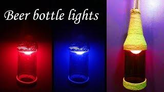 How to Make Beer or Wine Bottle Lamp by Very Easy (Diwali and Christmas Crafts) : DIY