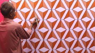 optical illusion 3d wall design | 3d wall painting | 3d wall decoration effect | interior design