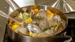 Marcus Samuelsson's White Wine Braised Clams Recipe Recipe | How To Make