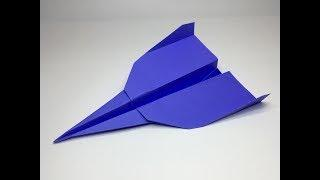 Origami Flying Paper Plane #4 Easy Simple & Fun - A to Z DIY ORIGAMI PAPER CRAFT