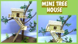 Mini Tree house of ice cream sticks | Tree house for school project | Miniature tree house | easy