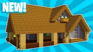 Minecraft : How To Build Large  Easy Survival Wooden House (#1)(PC/XboxOne/PS4/PE/Xbox360/PS3)