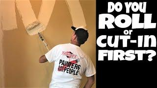 Interior Wall Painting- Do you Roll First or Cut In First? Pro Painter Tips
