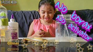 Cara membuat slime kenyal / how to make elastic slime / tanpa activator / tanpa borax