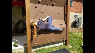Paint Plywood, Set Up and Add Holds (Outdoor Climbing Wall) Final ~ Part 4