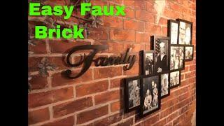 Faux Brick walls that look old, created with cheap brick panels from Menards
