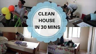 How To Clean Your House Fast | Clean Your House In 30 Minutes | House Cleaning In Hindi