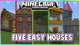 Five Cool Minecraft Pocket Edition Houses!