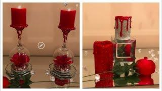 DOLLAR TREE DY WINE GLASS CANDLE HOLDERS | FROM VALENTINES DAY TO MOTHERS DAY ❤️