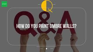 How Do You Paint Ombre Walls?