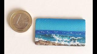 Painting A Tiny Seascape In Acrylic Step By Step