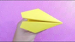 origami airplane | how to make paper plane tutorial easy step by step