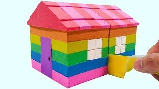 Learn Colors Kinetic Sand Rainbow House Cutting Surprise Toys Creative How To Make For Kids