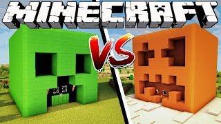 CREEPER HOUSE VS SNOW GOLEM HOUSE - Minecraft