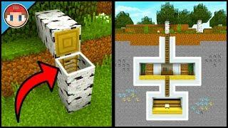 Minecraft: How to Build a Survival Secret Base Tutorial (#12) - Easy Hidden House/Base!