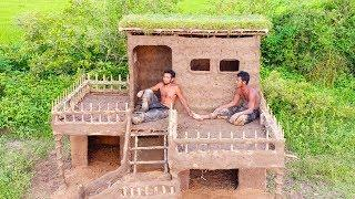 Build  Beautiful Two Floor Mud House Villa.