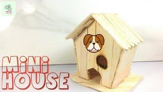 How to Make A Popsicle Stick House | DIY Mini House with Popsicle Stick | Art and Craft Ideas