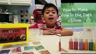 How to Make Glow in the Dark Slime | Slime Making Kit | Easy Slime