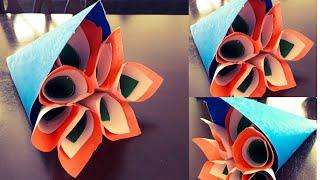 Easy Independence day Crafts | Tricolor bouquet of flowers | DIY paper crafts