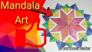 COLOURFUL MANDALA   WATERCOLOUR ART    BRIGHT PAINT