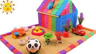 Learn Colors Kinetic Sand House For Paw Patrol W Soccer Balls, McQueen Cars Nursery Rhymes For Kids
