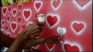 Heart paiting ideas for Wall painting decoration