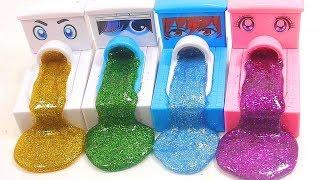 DIY How To Make Slime Glitter Mixing With Surprise Eggs Toys खिलौना